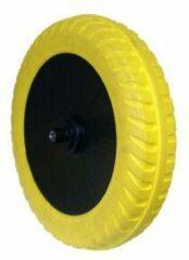 Altrad fort flexicore kruiwagenwiel 400 x 100 mm geel-zwart