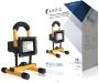König Mobiele LED Floodlight 10 W 700 lm Zwart / Geel Mobiele LED Floodlight 10 W 700 lm Zwart / Geel