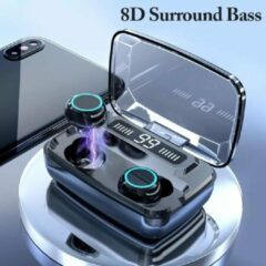 Blauwe TWS - Draadloze oortjes / in-ear oordopjes - Bluetooth Draadloze buds - Luxe indicator - Geschikt voor alle smartphones o.a Samsung & Iphone, airpods, galaxy buds, huawei, sony - Zwart.- . AANBIEDING!