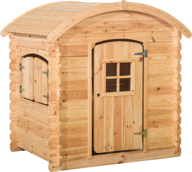 Afbeelding van Beige Woodvision - Speelhuisje Wende rond dak - Grenen - 130x105,5x14 cm