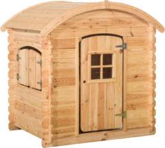 Beige Woodvision - Speelhuisje Wende rond dak - Grenen - 130x105,5x14 cm
