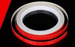 New Age Devi Reflector Fietsstickers voor goede zichtbaarheid op de weg - Rood