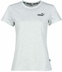 Grijze T-shirt Korte Mouw Puma ESS LOGO TEE
