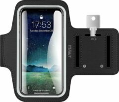 Merkloos / Sans marque Athletix Universele Smartphone Hardlooparmband - Zwart - Sleutelhouder