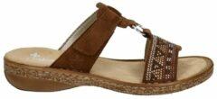 Bruine Rieker slippers cognac