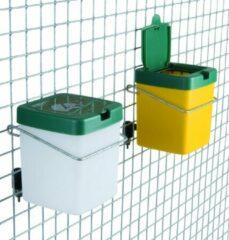 Groene JUNAI Olba Drinkfles Met Klapdeksel - Konijn - 0.5 L
