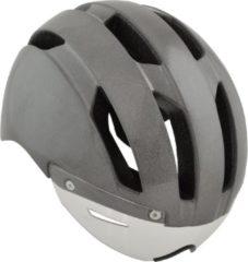 Grijze AGU Urban Pedelec Helm Essential Unisex Sporthelm - Maat L/XL - Hivis