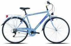 28 Zoll Legnano Portofino Herren Trekking Fahrrad 6-Gang 48cm, matt-hellblau