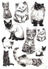 Sieretiketten Herma DECOR katten 3vel