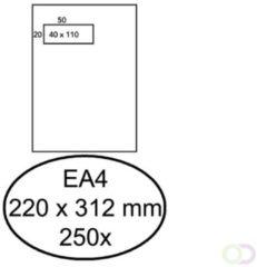 Bruna Envelop Hermes EA4 220x312mm venster 4x11links zelfkl 250st