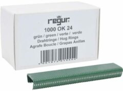 Regur OK 24 Eyelet clamps groen 1000 pc(s) Regur 60719 Dimensions (L x W x H) 10 x 100 x 20 mm