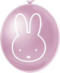 Roze Feestbeest Ballonnen meisje nijntje 6 stuks