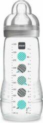 Grijze MAM Babyfles Easy Active 2e leeftijd - 330 ml - Vanaf 6 maanden - Speenstroom X - Unisex