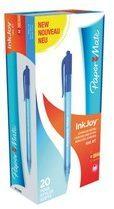 """Doos inklikbare balpennen Papermate """"Inkjoy 100"""" punt 1 mm brede lijn blauw"""