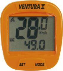 Ventura Fietscomputer X 10 Functies Bedraad Oranje
