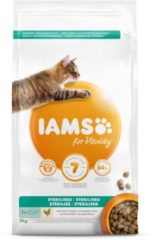 Iams Cat Adult Sterilised - Kattenvoer - Kip 3 kg