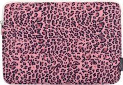Somstyle Laptophoes 15.6 Inch - Laptop Sleeve - Panterprint Roze