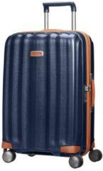 Blauwe Samsonite Lite-Cube DLX Spinner 68 midnight blue Harde Koffer