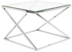 Transparante Salontafel glas/zilver BEVERLY