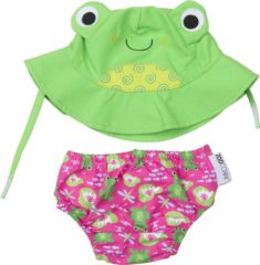 Groene Zoocchini UV zwemluier setje Flippy the Frog 12-24 maanden