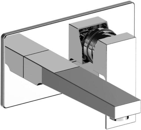 Afbeelding van Wastafelkraan Sanilux Cube Inbouw Chroom 1-delig Vierkant