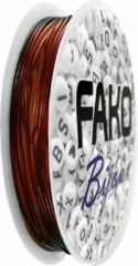 Fako Bijoux® - Elastisch Nylon Draad - Sieraden Maken - 0.6mm - 9 Meter - Bruin