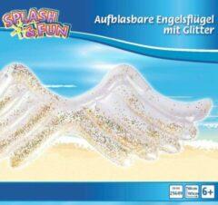 Witte JIN Zwembed engelvleugels met glitter