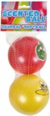 Van Manen Geurballen Junior 10 Cm Siliconen Rood/geel 2 Stuks