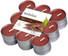 Bruine Bolsius Aromatic Standard Bolsius Geurtheelicht - True Scents - Oud Wood - 18 stuks
