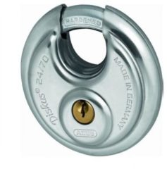 Abus 24/70 hangslot discus 70 x 10 mm zilver