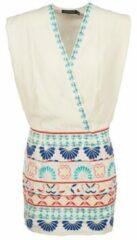 Witte Korte jurk Antik Batik POLIN