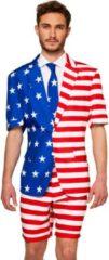 Suitmeister USA Flag - Heren Zomer Kostuum - Maat XXL