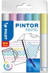 Paarse Pilot pintor pastel set van 6 paint marker water based 517467
