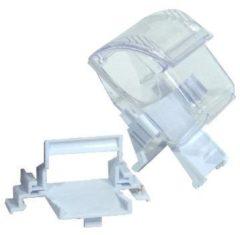 Ferplast Voerbakje Fpi 4503 - Vogel - Voerbak- Drinkbak - 6.9x5.7x7.8 cm Wit Transparant
