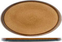 Cosy&Trendy Quintana Amber Plat Bord 35,5x23,5cm ovaal (set van 2) En Yourkitchen E-kookboek - Heerlijke Smulrecepten