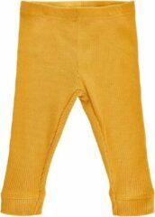 Me Too - baby legging - rib - geel - Maat 68