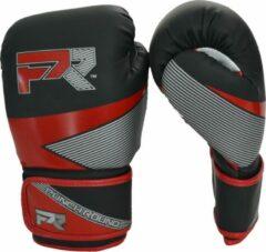 PunchR™ Punch Round Bokshandschoenen Evoke Zwart Rood Kies hier uw maat Bokshandschoenen: 10 OZ