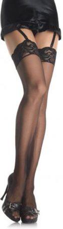 Afbeelding van Zwarte EDC gecensureerd Leg Avenue Jarretelkousen - zwart - one size