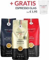 Occaffe O'ccaffè - Premium Italiaanse koffiebonen Proefpakket XL | 3 x 1kg | Barista kwaliteit