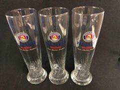 Transparante Wijgert.nl Paulaner weizen bierglas bokaal set 3 x 50cl weissbier weiss bier glas glazen bierglazen