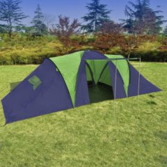 Blauwe VidaXL - Kampeertent 9 - Visavis tent - 9-Persoons - Blauw;Groen