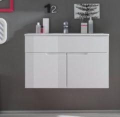 Waschbeckenunterschrank mit Becken weiss Hochglanz Bega Spice