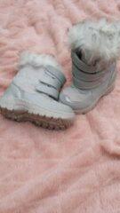 Merkloos / Sans marque Snowboot grijs met bontrand maat 25
