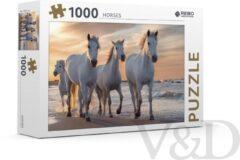 Massamarkt Rebo puzzel Witte paarden 1000 stukjes