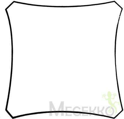 Afbeelding van Creme witte Velleman Schaduwdoek - Zonnezeil - Vierkant 3.6 X 3.6M, Kleur: Crème