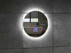 Mawialux LED spiegel   50cm   Rond   Verwarming   Digitale klok   Bluetooth   ML-50NMR