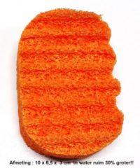 Oranje MARTINISPA Aroma Therapie-Ergonomische Badspons - Sinaasappel/Grapefruit - Voordeelverpakking - 2 Stuks!!