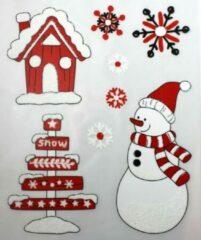 Peha Stickervel Kerst 28,5 X 34,5 Cm Rood/wit 8-delig