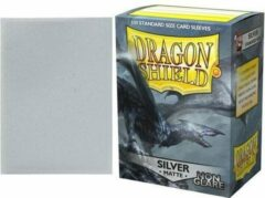 Trading Card Game TCG Sleeves - Dragon Shield - Silver (Non Glare) Standard Size