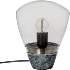 Donkergrijze Riverdale - Tafellamp Marble d.grijs 23cm Grijs